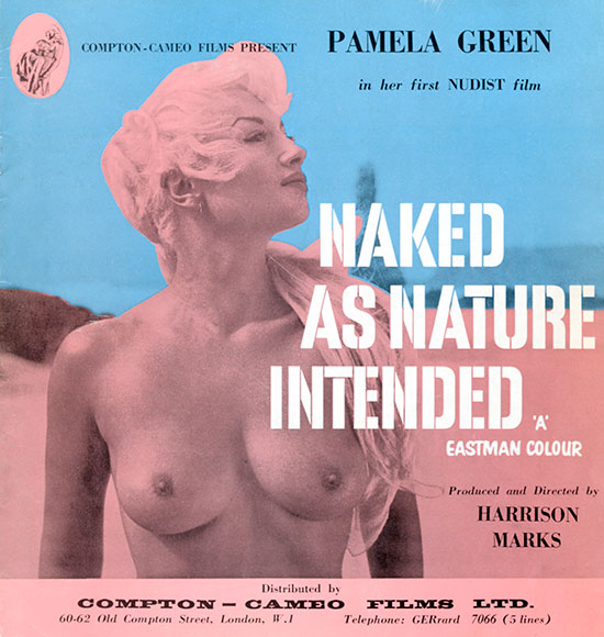 Press book for Naked As Nature Intended, which was produced and directed by Harrison Marks and starred Pamela Green in her first and only nudist film. Distributed by Compton-Cameo.
