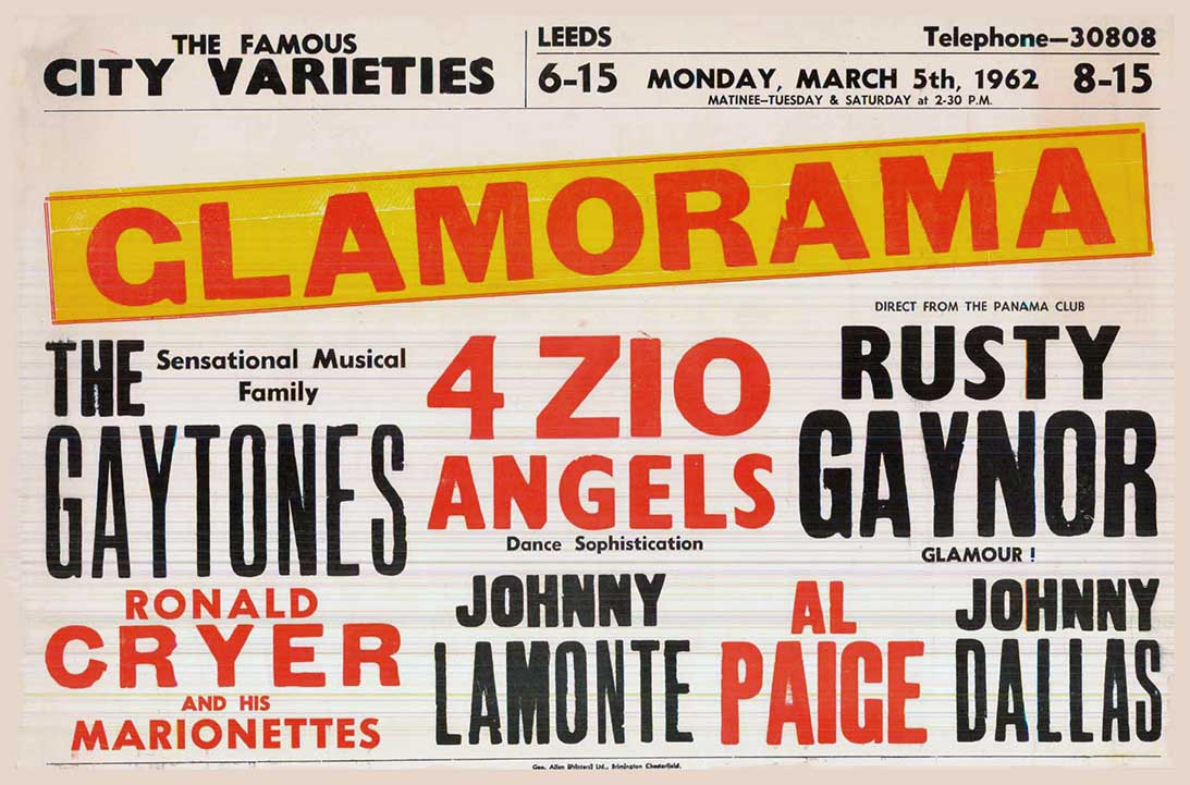 Glamorama play bill show poster