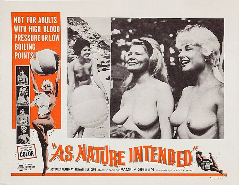 As Nature Intended, Lobby card, Pamela Green, Harrison Marks