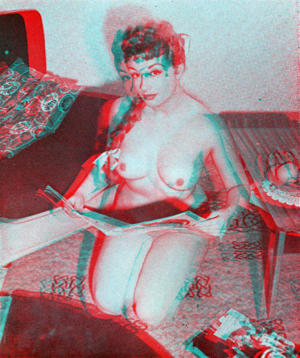 Pamela Green, 3D pinup, nude