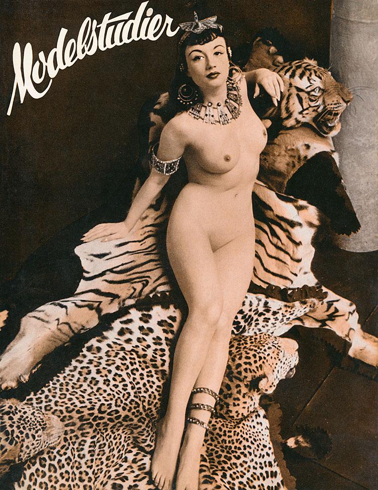 Pamela Green by Zoltán Glass on the cover of Modelstudier
