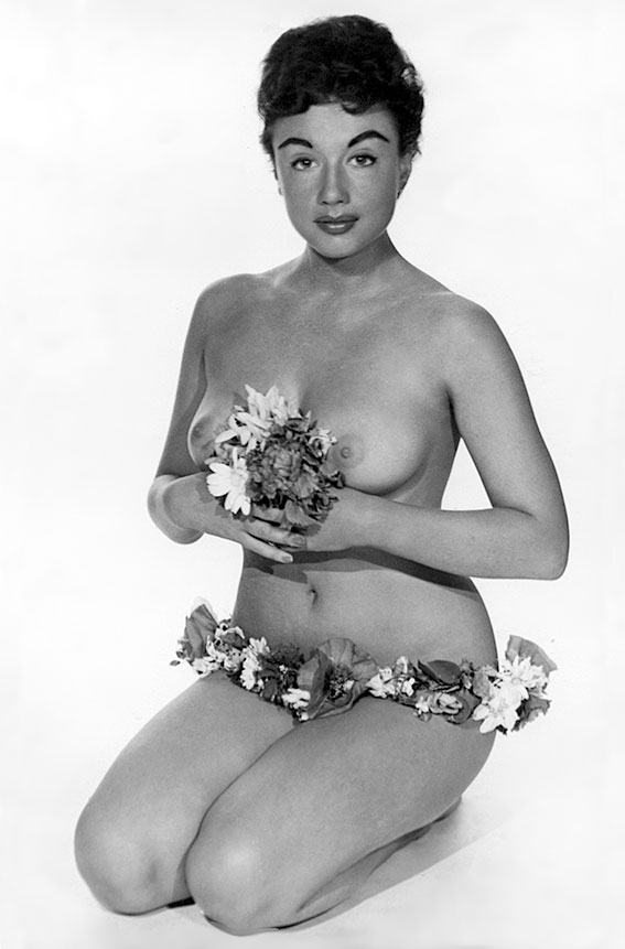 Nude photo of Pamela Green taken by George Harrison Marks in the 1950s.